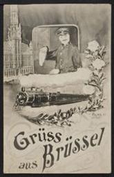 Grüss aus Brüssel postcard  