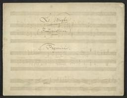 Le Streghe (Hexenvariationen) Musique manuscrite = Handgeschreven muziek N. Paganini | Paganini, Niccolò (1782-1840) - Italian violinist and composer. Compositeur