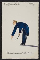 Le chef d'orchestre. 6. postcard |