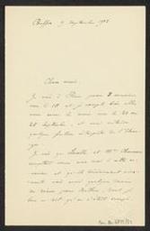 [Lettre autographe signée de Vincent d'Indy à Guillaume Guidé et Maurice Kufferath] | Indy, Vincent d' (1851-1931)