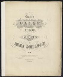 Valse brillante Musique imprimée = Gedrukte muziek op. 6 Jules Schulhoff | Schulhoff, Julius (1825-1898). Componist