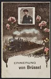 Erinerung von Brüssel postcard  