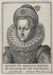Portrait of Marie De Medici, Queen of France graphic | Wierix, Anton II (Flemish printmaker, 1555/1559-1604). Éditeur intellectuel
