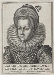 Portrait of Marie De Medici, Queen of France graphic | Wierix, Anton II (Flemish printmaker, 1555/1559-1604). Éditeur intellectuel