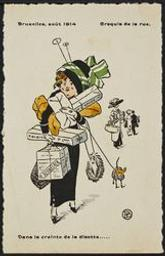 Bruxelles, août 1914. Croquis de la rue. postcard |