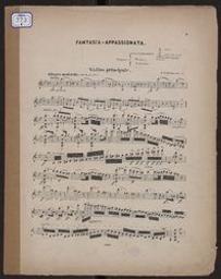 Fantasia appassionata [pour violon et piano] : Op. 35 Henry Vieuxtemps | Vieuxtemps, Henry (1820-1881)