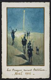 Les Bergers devant Bethléem. Noël 1916 postcard  
