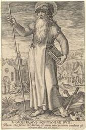 St William of Aquitaine graphic | Wierix, Hieronymus (Anvers, 1553 - 1619). Graveur