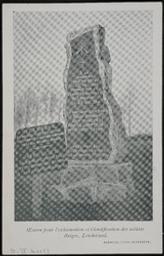 Monument élévé à Londerzeel à la mémoire des soldats du 12e de Ligne tombés sur le champ de bataille de Londerzeel le 29-IX-1914 |