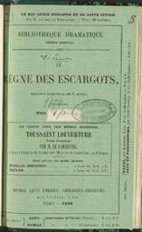 Le règne des escargots revue-vaudeville en trois actes par MM. De Leuven, Brunswick et Arthur De Beauplan | De Leuven. Auteur