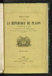 La République de Platon vaudeville en un acte par MM. Saint-Yves et Adolphe Choler | Saint-Yves (1810-1872) - p. Author