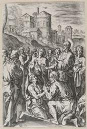 The Raising of Lazarus graphic | Van den Broeck, Crispijn (1523-1590, Flemish painter and draughtsman). Artiste