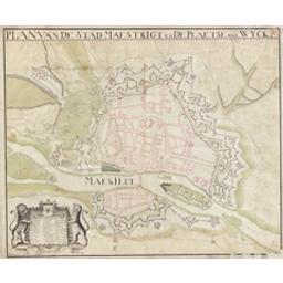 Plan van de stad Maestrigt en de plaetse van Wijck Cartografisch document Anoniem |