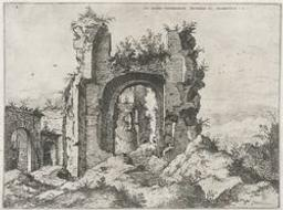 View of the Baths of Caracalla | Cock, Hieronymus (fl. 1548-1570). Boekontwerper
