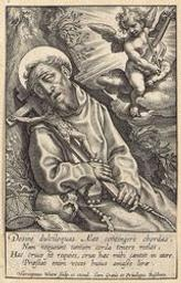 The Ecstasy of St Francis of Assisi graphic | Wierix, Hieronymus (Anvers, 1553 - 1619). Éditeur intellectuel
