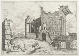 Second View of the Forum of Nerva | Cock, Hieronymus (fl. 1548-1570). Boekontwerper