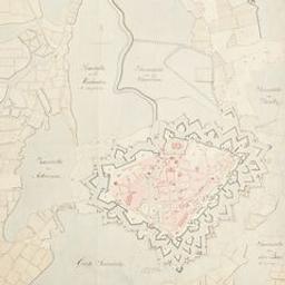 Plan van Breda met deszelfs inundatien van den jare 1748 Document cartographique |