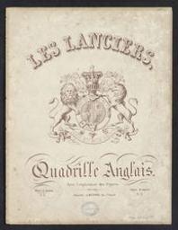 Les Lanciers Musique imprimée = Gedrukte muziek quadrille anglais | Joseph Meynne (Bruxelles). Éditeur