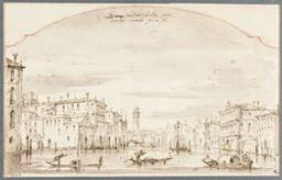 View of the canal grande in Venice Graphic | Anonyme XVIIIs. Illustrateur