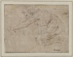 Hercules and the Nemean lion Graphic   Raphaël (1483-1520) - peintre et architecte italien. Illustrateur