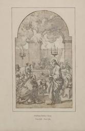 Apostle receiving the communion during the Last Supper Graphic   Conca, Sebastiano (1676/1680-1764). Illustrateur