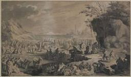 Israelites gathering Manna Graphic | Unknown French. Illustrateur