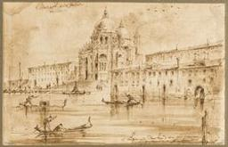 View of the church of Santa Maria della Salute in Venice Graphic | Anonyme Flamand XVIIIs. Illustrateur