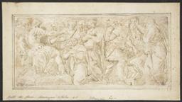 The family of Darius before Alexander and prisoners before a magistrate Graphic | Caravaggio, Polidoro da (ca.1497-ca.1543). Illustrateur