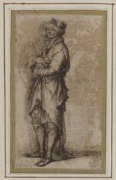 Study of a standing man Graphic | Rosa, Salvator (1615-1673). Illustrateur