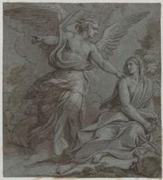 Hagar and the Angel Graphic | Chéron, Louis (1660-1715?). Illustrateur