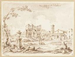 View of the church of San Giorgio in Velabro in Rome Graphic   Anonymous - p. Illustrateur