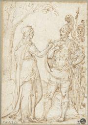 Aeneas's farewell to Dido Graphic | Unknown Italian. Illustrateur