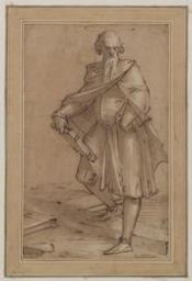 Saint Peter (?) Graphic | Cambiaso, Luca (1527-1585). Illustrateur