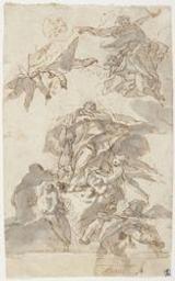 The Assumption of a saint Graphic   Unknown Italian. Illustrateur